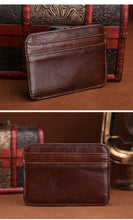 Ultra-Convenient Brown Leather Card Holder