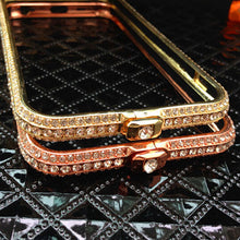 Rose Gold Crystal iPhone Bumper Case