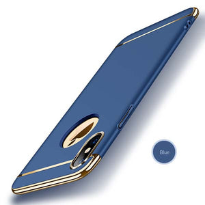 Super Sleek Chrome Gold Accent iPhone Case