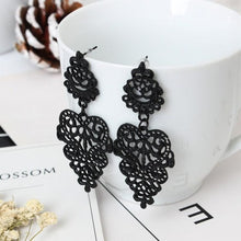 Fine Jewelry Drop Earrings Retro Vintage Alloy Hollow Women Silver Gold Leaflike Long Bohemian Pierced Dangle Earrings Wholesale
