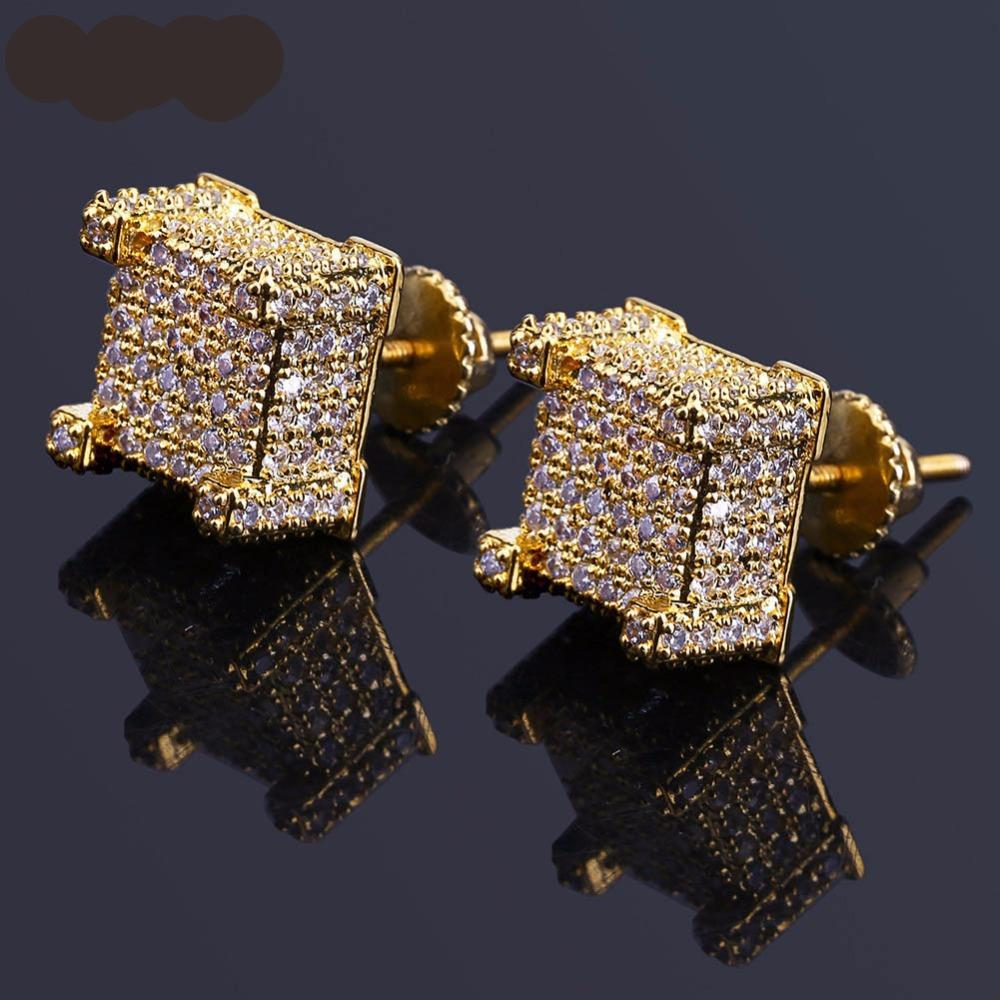 14k Gold Ice Stud