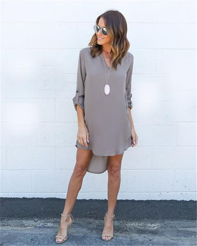 Beautiful Long Sleeve Chiffon Sun Dress