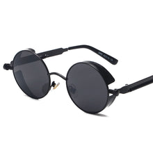 Retro Round Lensed Steampunk Sunglasses uv400