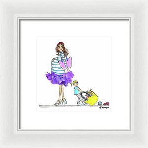 Mother and Son - Framed Print
