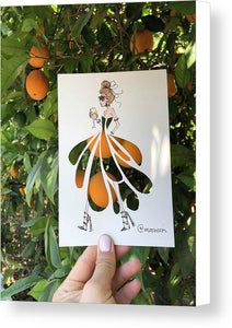 Algarve Orange - Canvas Print