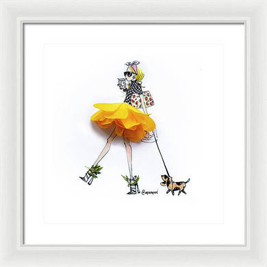 April Ranunculus Pup - Framed Print