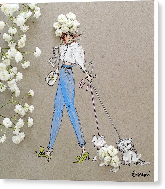 Baby Breath Bichon - Canvas Print