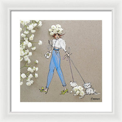 Baby Breath Bichon - Framed Print