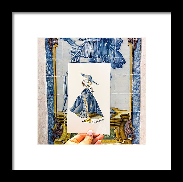 Blue Portugal Girl - Framed Print