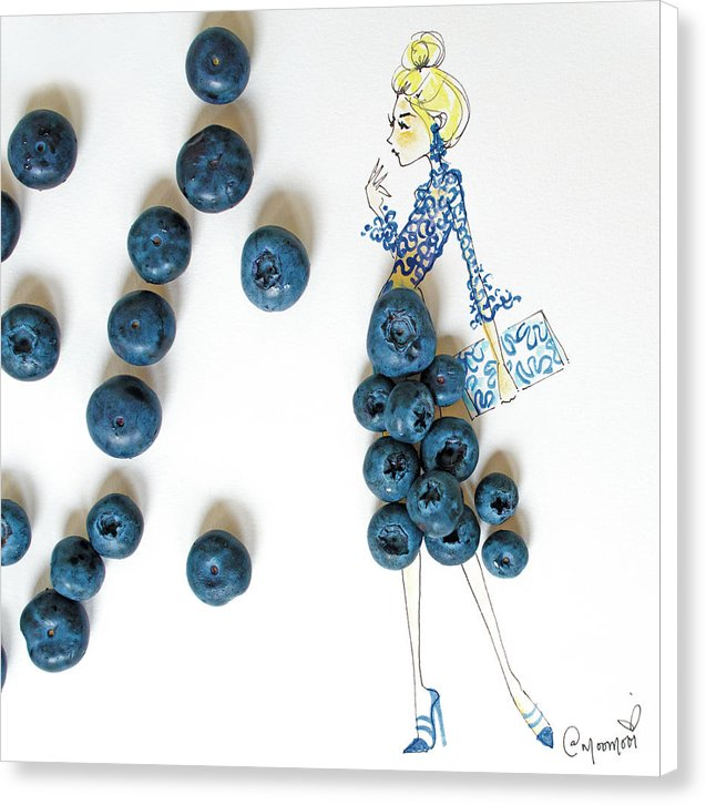 Blueberry Bella - Canvas Print