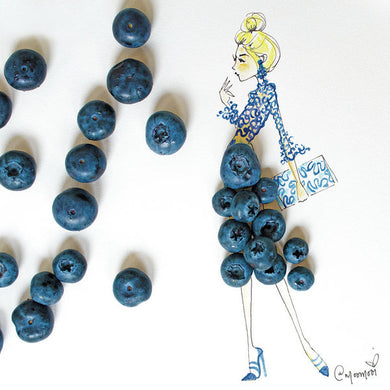 Blueberry Bella - Art Print