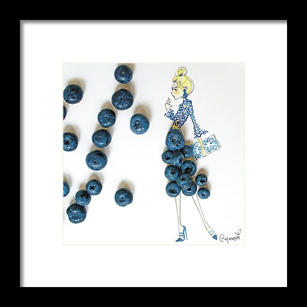 Blueberry Bella - Framed Print