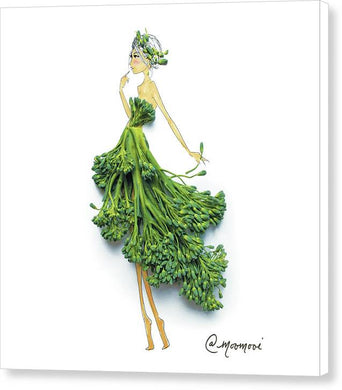 Broccoli Girl - Canvas Print