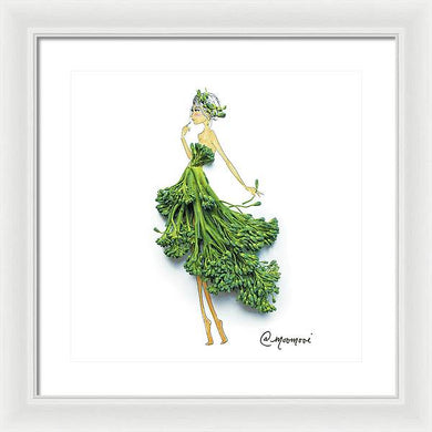 Broccoli Girl - Framed Print