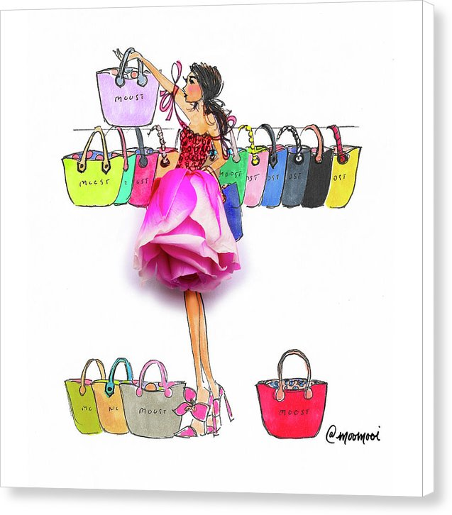 Choosing Bags  - Canvas Print (Moost)