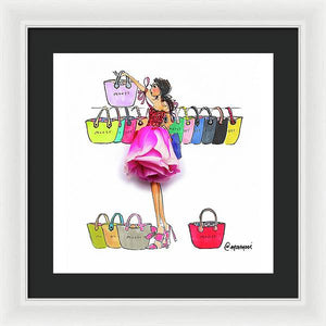 Choosing Bags  - Framed Print (Moost)