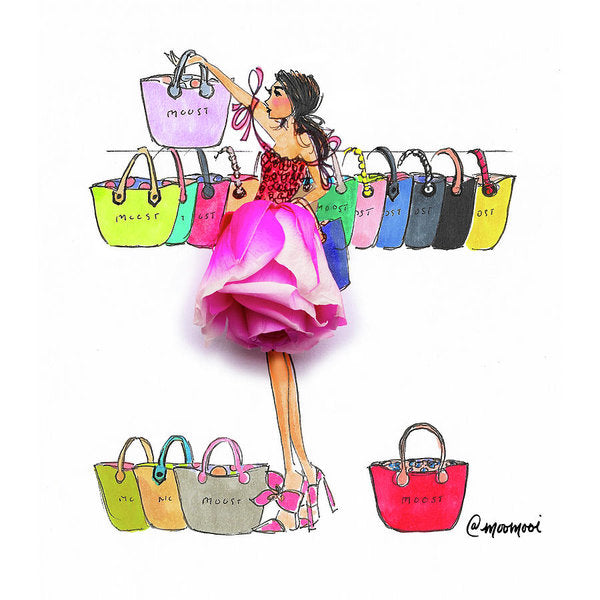 Choosing Bags - Art Print (Moost)
