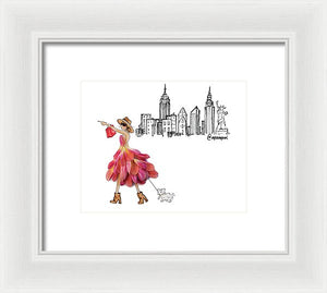 City Shopper - Framed Print