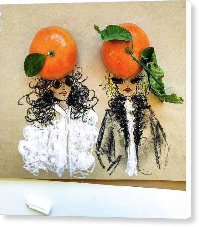 Clementine Hats - Canvas Print