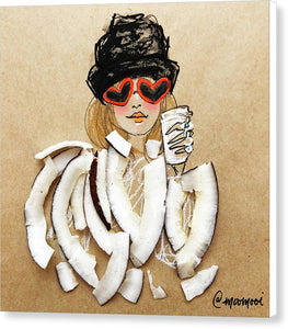 Coconut Heart Sunnies - Canvas Print