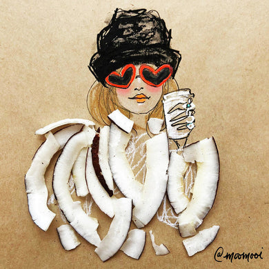 Coconut Heart Sunnies - Art Print