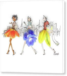 Commuter Girls - Canvas Print