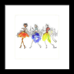Commuter Girls - Framed Print