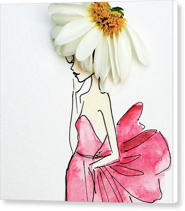 Daisy Hat  - Canvas Print