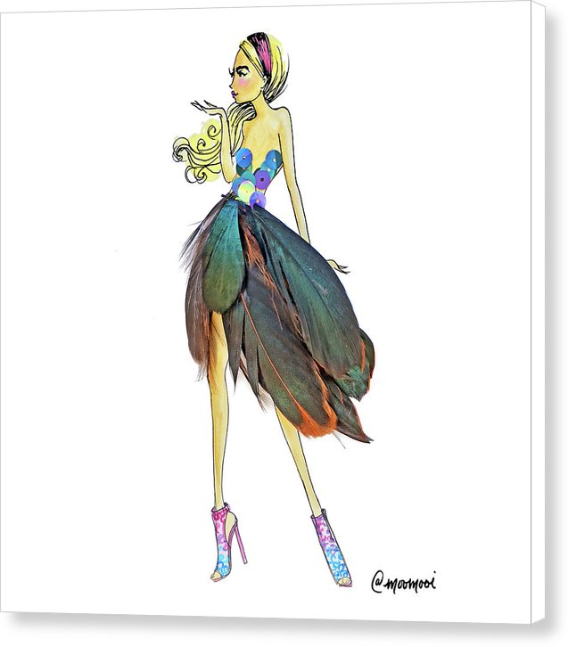 Feather Skirt - Canvas Print