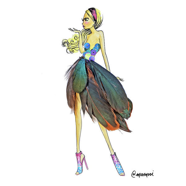 Feather Skirt - Art Print