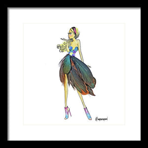 Feather Skirt - Framed Print