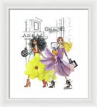 Fifth Ave Shopper Girls - Framed Print
