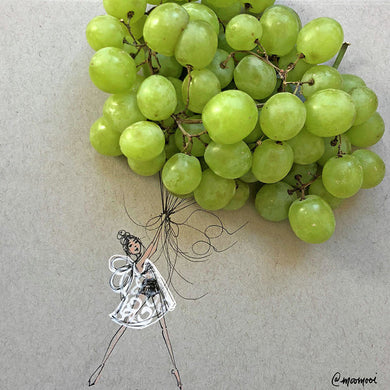 Grape Balloon  - Art Print