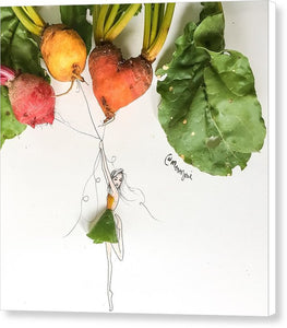 Heart Beet - Canvas Print