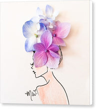 Hydrangea Headdress - Canvas Print