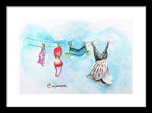 Laundry Line - Framed Print