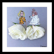 Leopard And Roses - Framed Print