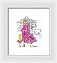 Mama And Mini In The City  - Framed Print