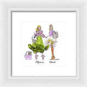 Mooms and Oost - Framed Print (Moost)