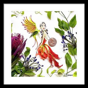 Parrot Girl - Framed Print