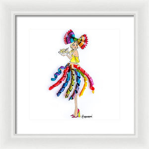 Pasta Party Dress - Framed Print