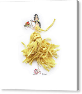 Pasta Princess - Canvas Print