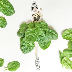 Peace And Spinach - Art Print