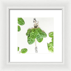 Peace And Spinach - Framed Print