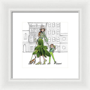 Pepperminty Saturdays - Framed Print