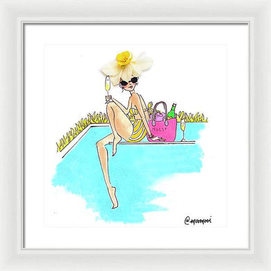 Pool Babe - Framed Print (Moost)
