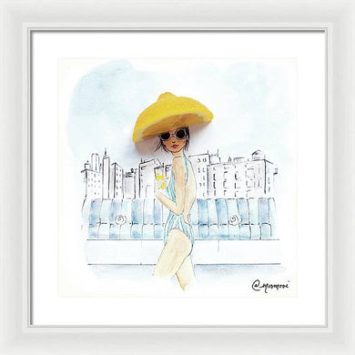 Pool Sips - Framed Print