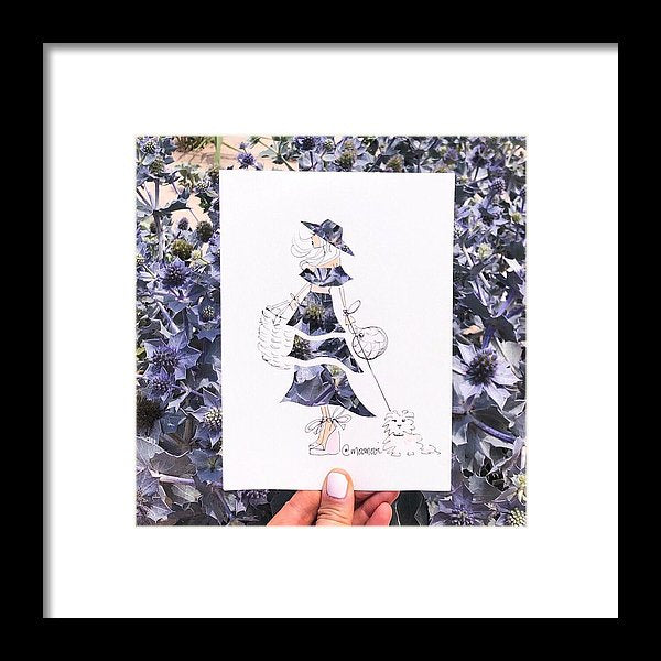 Purple Thistle (Portugal) - Framed Print