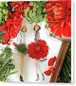 Red Dahlia - Canvas Print