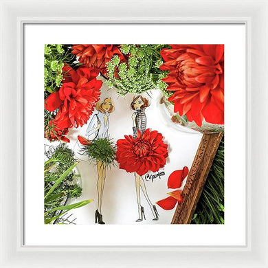 Red Dahlia - Framed Print